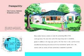 Floor Plans For Real Estate Ranch Homes Plans For America In The 1950s