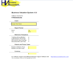 Business Valuation Report Template Worksheet by Business Valuation System Excel Template