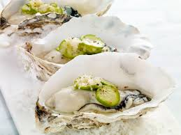 windset farms fresh oysters with cocktail cucumber mignonette