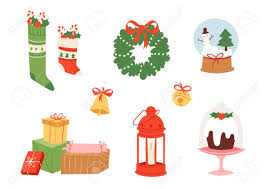 icons symbols vector for new year celebration decoration