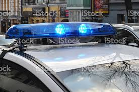 roof rack emergency light bar police lights the roofmounted lightbar of an emergency vehicle stock