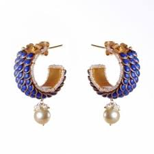 pachi earrings earrings traditional pachi work gold plated sterling silver
