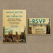 wedding invitations atlanta vintage travel wedding invitations for your destination wedding