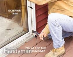 Patio Door Sill Pan Replace A Patio Door Family Handyman