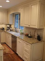 Kitchen Off White Cabinets Cream Subway Tile And Distressed Kitchen Cabinets Cream Cabinets