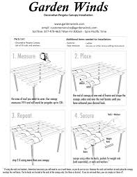 Pergola Shade Covers by Diy Decorative Pergola Shade Canopy Garden Winds