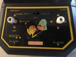 vintage 80 u0027s pacman coleco tabletop arcade game parts repair nice