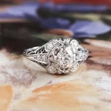 art deco engagement ring 1930 u0027s old european cut diamond filigree
