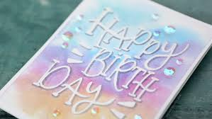 relaxing painting videos relaxing watercolor painting lettering birthday card