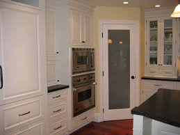 pantry door with frosted glass kitchen cabinet l shaped kitchen design with kitchen island and