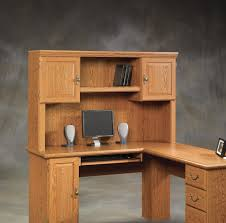 Computer Hutch With Doors Furniture Chic White Finish Small Computer Desk With Hutch