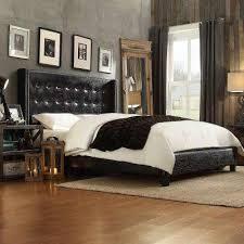 black queen beds u0026 headboards bedroom furniture the home depot