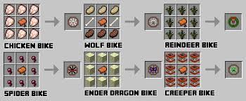 minecraft motorcycle animal bikes minecraft mods