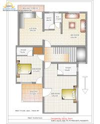 House Plan Simple Small South Facing Floor Plans And Elevation Sq