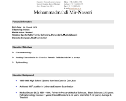 Example Of Medical Resume by Personal Statement Examples Physiotherapy