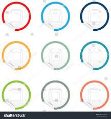 Floor Plan Furniture Clipart Flat Chair Icon On Sticker Floor Stock Vector 351980558 Shutterstock