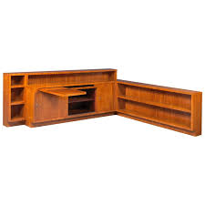 Walnut Corner Bookcase Two Tear Walnut Corner Shelf Bookcase At 1stdibs
