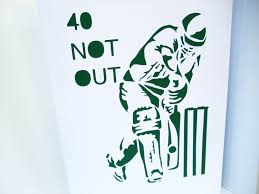 large a4 cricket birthday card paper cut cricketer card