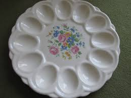 antique deviled egg plate vintage deviled egg plate e r american artware serving plate