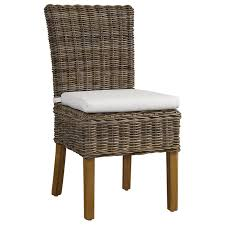 boca dining chair white cushion gray kubu rattan wicker dcg