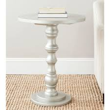 Silver Accent Table Safavieh Greta Silver End Table Amh6603e The Home Depot