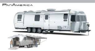 the airstream panamerica 34 foot toy hauler travel trailer
