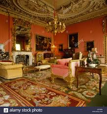 stately home interiors drawing room in stately home with antique furniture and