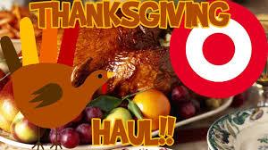 thanksgiving dinner target shopping haul