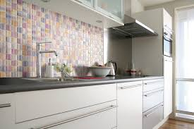 contemporary mosaic tile kitchen backsplash stainless steel wall