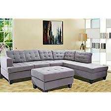 amazon com merax sofa 3 piece sectional sofa with chaise and