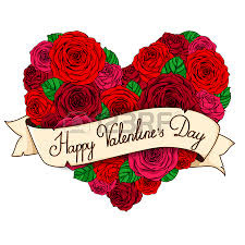 card valentine u0027s day frame of roses roses with lettering on