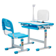 desk and chair set adjustable children s study desk chair set child kids table with