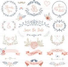 wedding design rustic wedding design set stock vector 531858686 istock