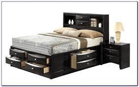 Black King Size Platform Bed King Size Platform Bed With Storage Canada Bedroom Home Design