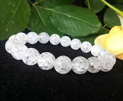 white crystal bracelet images Genuine crackle clear quartz bracelet crackle quartz jewelry rock jpg