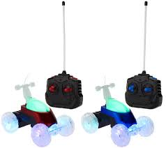 light up remote control car set of 2 turbo twisters rc deluxe light up stunt vehicles page 1