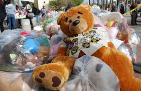 teddy delivery enforcement makes beary special delivery to children s