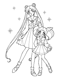 coloring pages kids sailor moon mercury in diaet me
