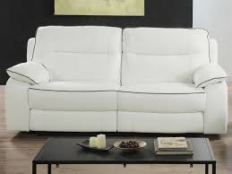 canapé 3 places cuir blanc canapé et fauteuil relax en cuir blanc ou noir catane