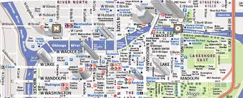 chicago map with attractions chicago map by vandam chicago streetsmart map city maps