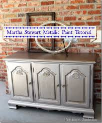 silver metallic paint makes furniture shimmer and shine metallic