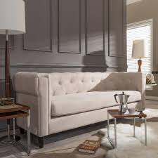 Uncomfortable Couch Home Decorators Collection Mayfair 88 In Classic Natural Twill
