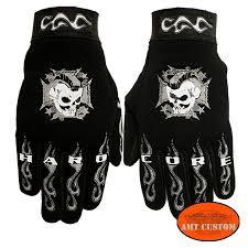 biker gloves maltese cross and skull amt custom shop