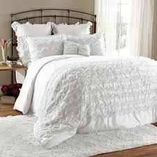 White Bed Set King Avery 7 Piece Comforter Set