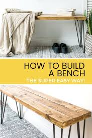 Simple Outdoor Bench Seat Plans by Best 25 Wood Bench Plans Ideas That You Will Like On Pinterest