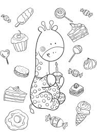 Baby Giraffe Is One Year Old Coloring Page Free Printable Coloring Pages For 10 Year Olds