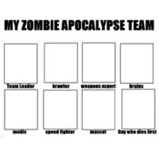 My Zombie Apocalypse Team Meme Creator - my zombie apocalypse team know your meme