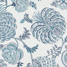 Robert Allen Home Decor Fabric Robert Allen Sunbrella Garden Life Indigo 242288 Indoor Outdoor