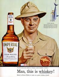 whiskey halloween costume my pretty baby cried she was a bird hiram walker imperial whiskey