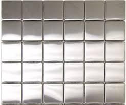 X  In Stainless Steel Backsplash Polished Metal Mosaic Tile - Stainless steel tile backsplash